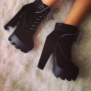 The Taryn, Lace Up Bootie
